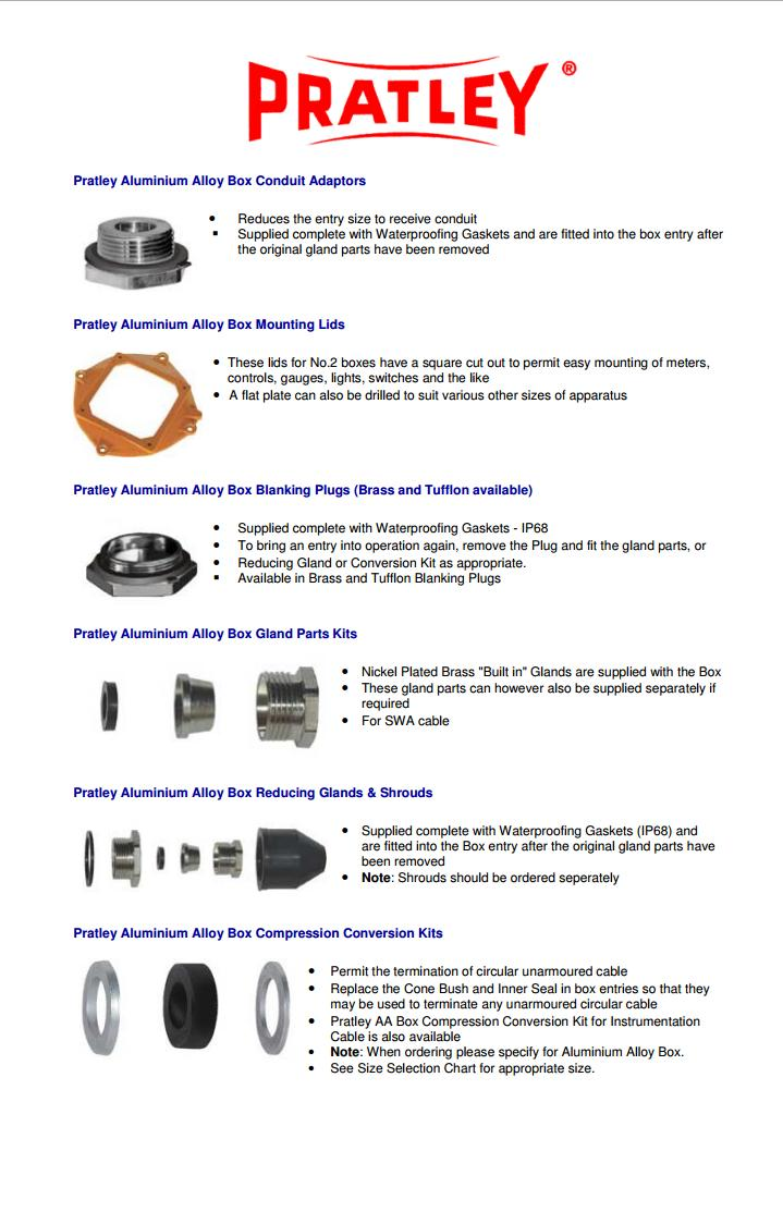 18 Junction Box Accessories