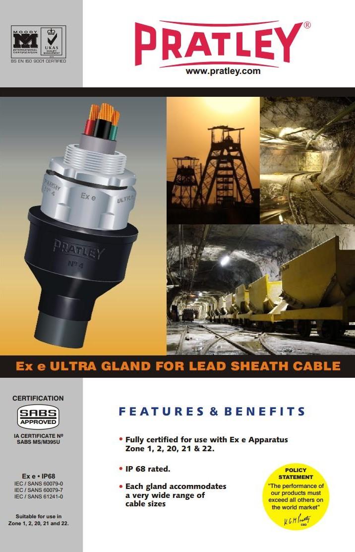 2 Ex e ultra gland for lead sheath cable