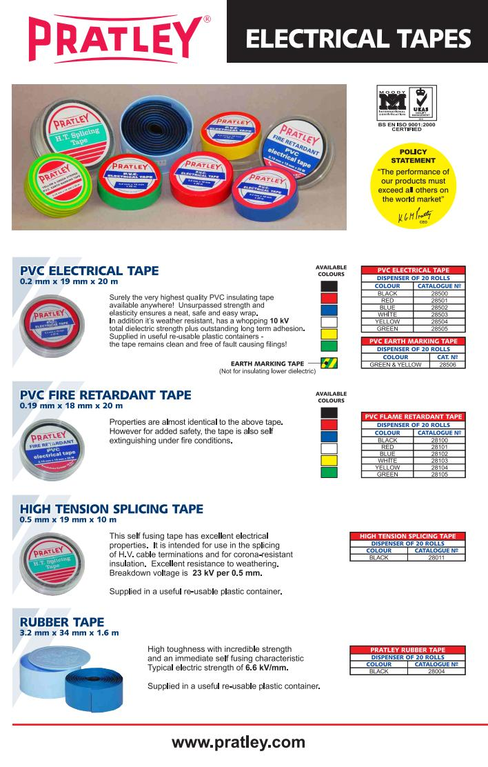 22 Electrical Insultation Tapes