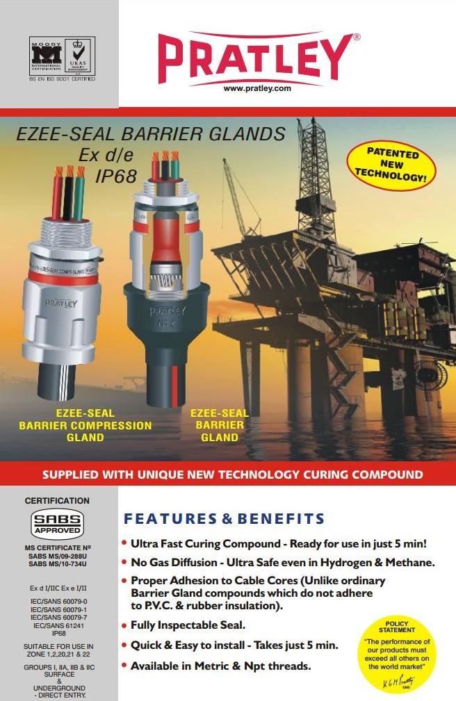 5 Ex d-e ezee seal barrier gland