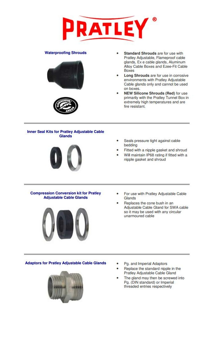 7 Electrical cable gland accessoiries